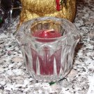 VOTIVE HOLDER CUT CRYSTAL WITH CANDLE SPICY FLORAL SCENT