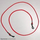 Red eyeglasses cord - optical frame chain holder