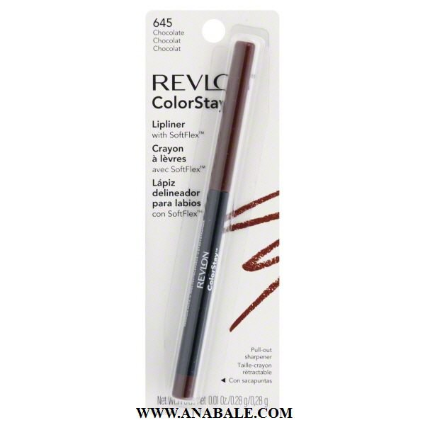 Revlon ColorStay Lipliner with SoftFlex, Chocolate # 645, 0.01 Ounce