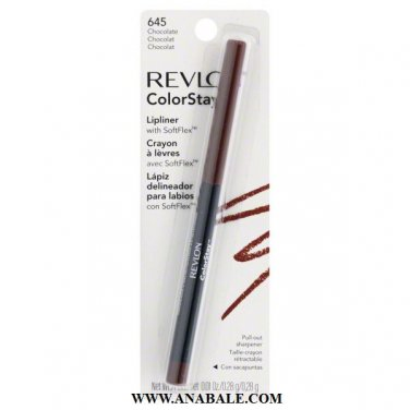 Revlon ColorStay Lipliner with SoftFlex, Chocolate # 645, 0.01 Ounce