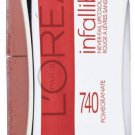 L'oreal Infallible Never Fail Lipcolour, Pomegranate 740, by L'Oreal Paris Cosmetics