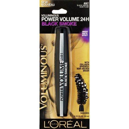 L'Oreal Voluminous Power Volume 24H Mascara, Black Smoke 697 - 0.33 fl oz