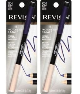 (Lot of 2) Revlon PhotoReady Kajal Intense Eyeliner + Brightener, Purple Reign 004 - 0.08 oz