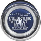 Maybelline New York Eye Studio Color Tattoo Metal 24 Hour Cream Gel Eyeshadow, 75 Electric Blue