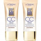 (2 Pack) - L'Oreal Paris Visible Lift Cc Cream, SPF 20, 180 Light/Medium