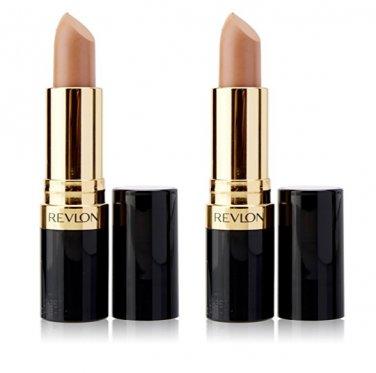 (2-Pack) Revlon Super Lustrous Matte Lipstick, Nude Attitude 001 - 0.15 oz