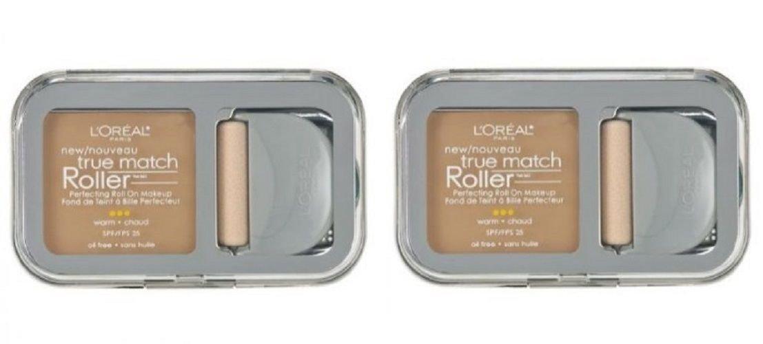 (2 Pack) L'Oreal Paris True Match Roller, W4 Natural Beige, 0.30 Ounce