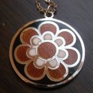 Modernist de Passille Sylvestre flower enamel necklace