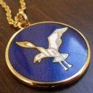 Modernist de Passille Sylvestre seagull enamel necklace