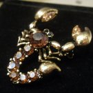 Austrian crystal scorpion brooch costume jewelry