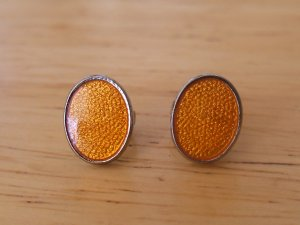 de Passille-Sylvestre Enamel Oval Stud Earrings