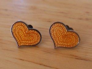 de Passille-Sylvestre Enamel Heart Stud Earrings