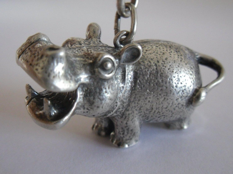Vintage Silver Hippopotamus Key-chain (SOLD OUT)