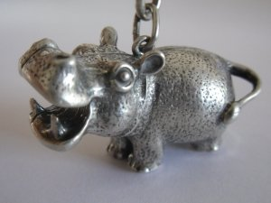 Vintage Silver Hippopotamus Key-chain (SOLD OUT)