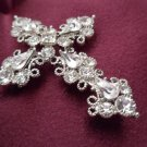 Victorian Gothic/Neo-Gothic Cross Brooch Costume Jewelry
