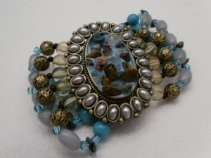 Chunky Turquoise and Bead Bracelet
