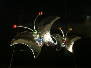 Two Butterflies Brooch Costume Jewelry