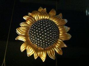 Sunflower Brooch Costume Jewelry