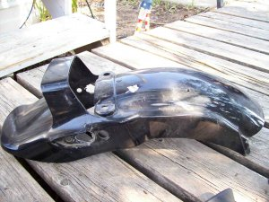 83 Honda Shadow VT 500c rear wheel fender original