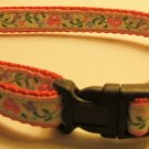 M:- Red nylon collar- Pink hearts with Vines