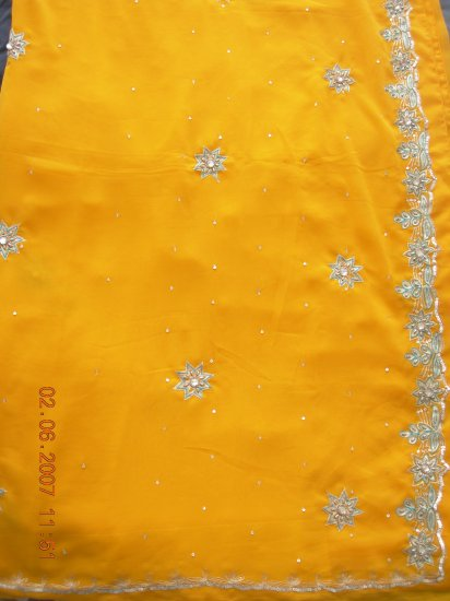 yellow laser chiffon BB07