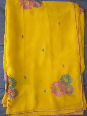 greenish mehendi georgette BB04