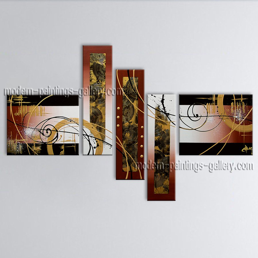 Handmade Artcrafts Large Modern Abstract Painting Wall Art Gallery Wrapped
