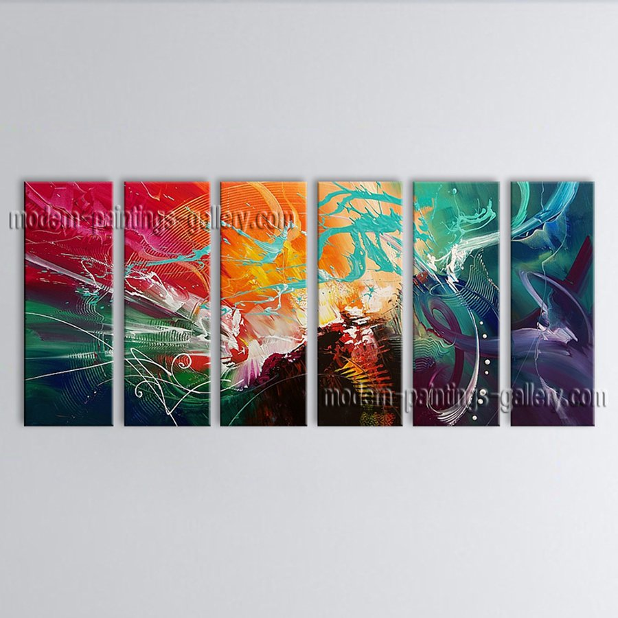 Hand-painted Huge Modern Abstract Painting Wall Art Decoration Ideas