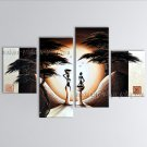 Tetraptych Modern Abstract Painting Wall Art Figure Artwork Pictures