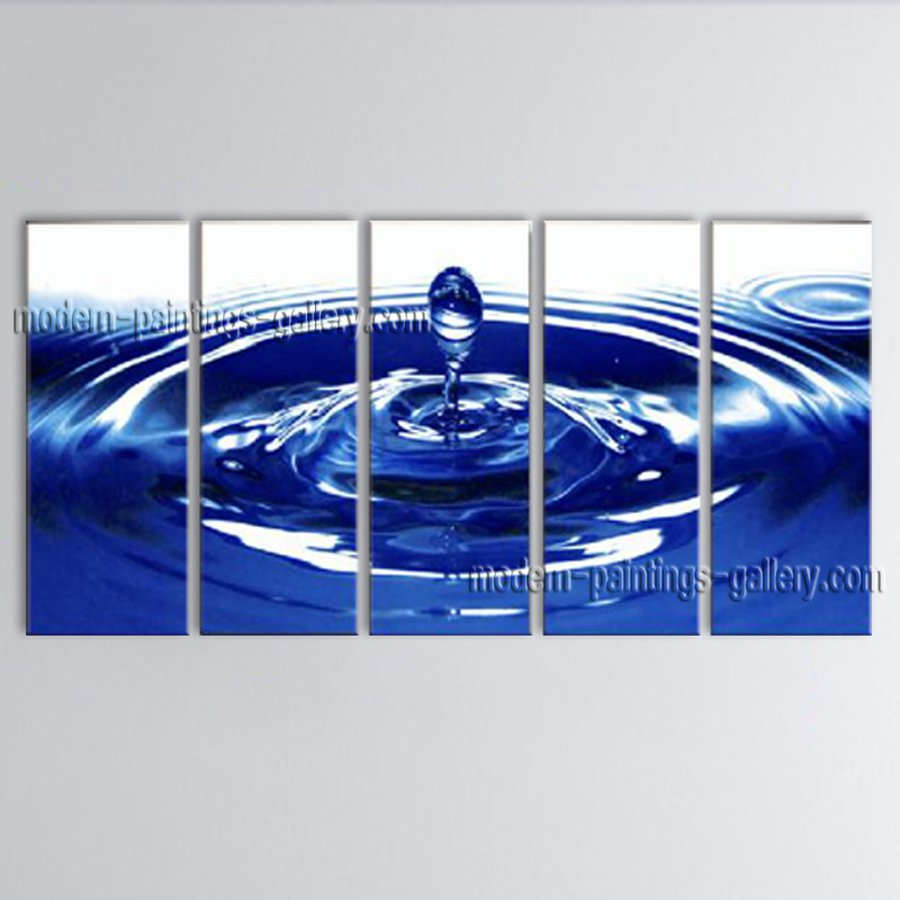Hand-painted 5 Pieces Modern Abstract Painting Wall Art Decoration Ideas