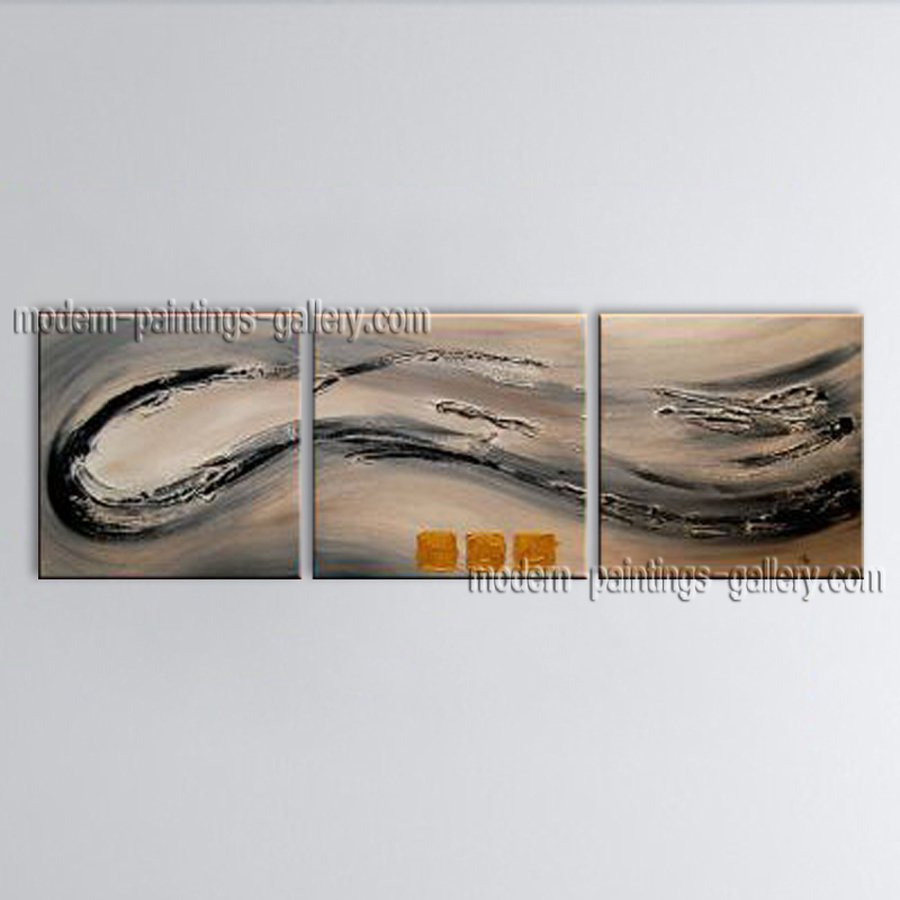 Hand-painted Elegant Modern Abstract Painting Wall Art Interior Design