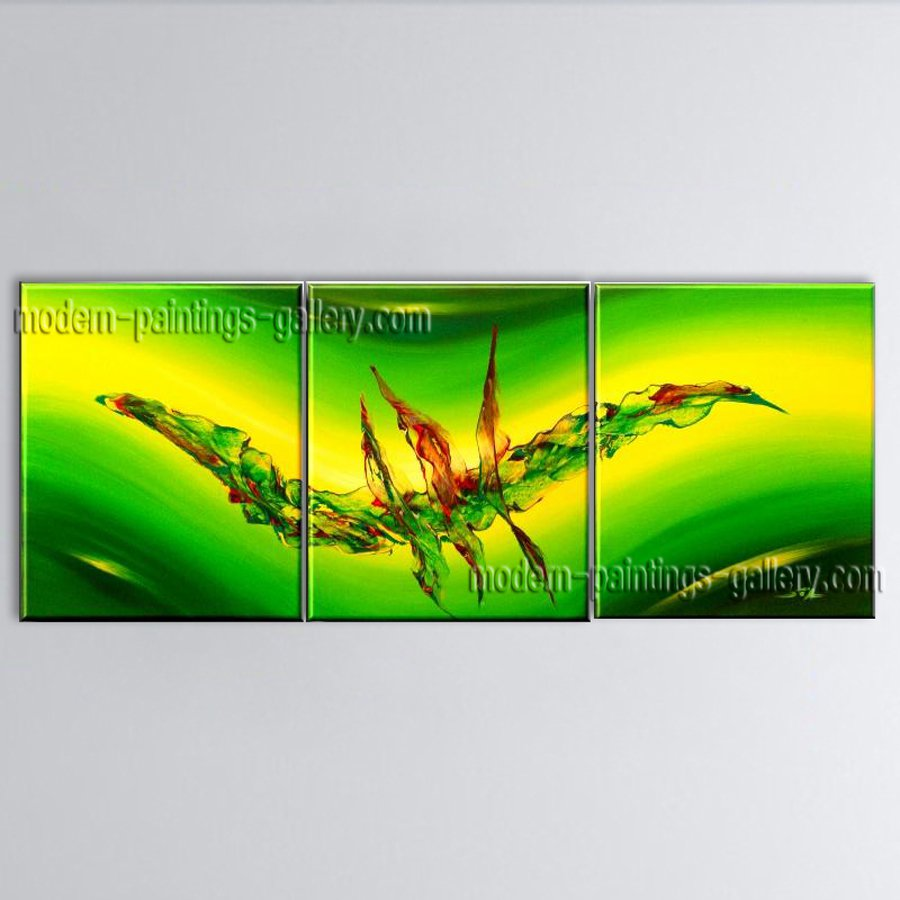 Hand Painted Triptych Modern Abstract Painting Wall Art Artist Artworks