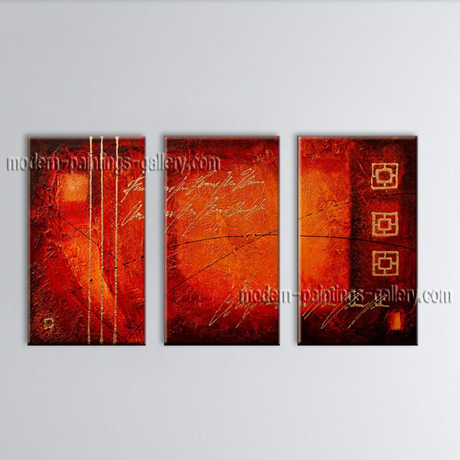 Hand-painted Elegant Modern Abstract Painting Wall Art Inner Framed