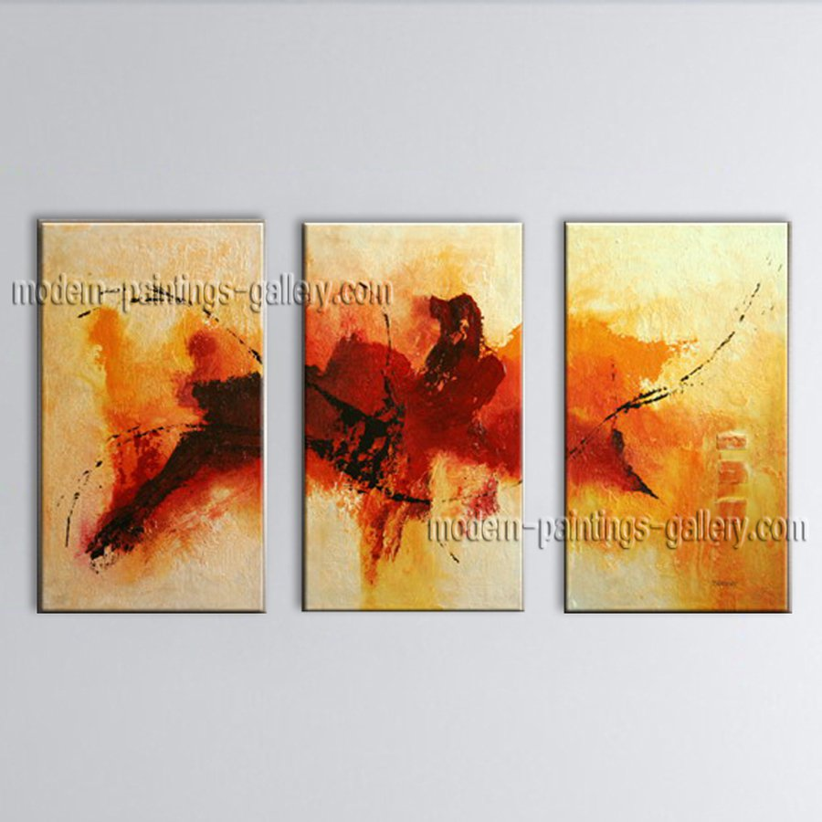 Handmade Artcrafts Elegant Modern Abstract Painting Wall Art Inner Framed