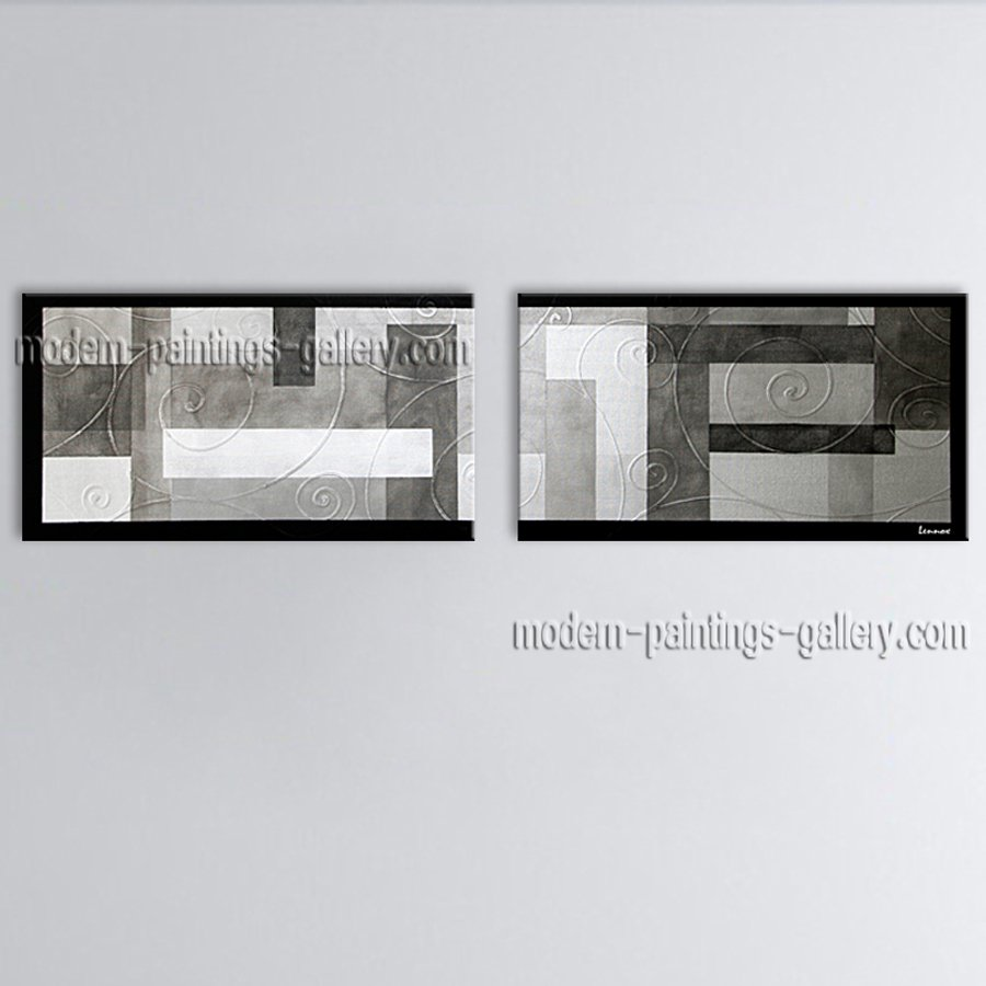 Hand-painted Astonishing Modern Abstract Painting Wall Art Inner Framed