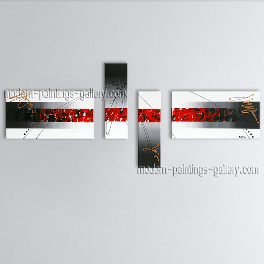 Hand-painted Large Modern Abstract Painting Wall Art Gallery Wrapped