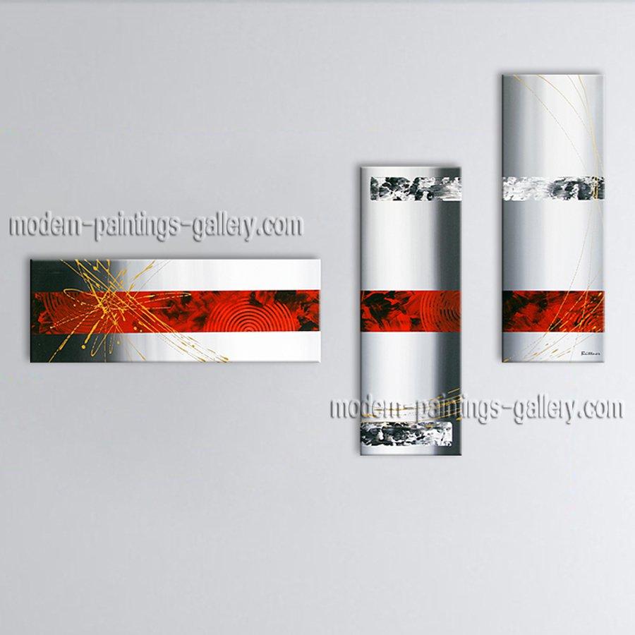 Modern Elegant Wall Decor : Hand painted elegant modern abstract painting wall art