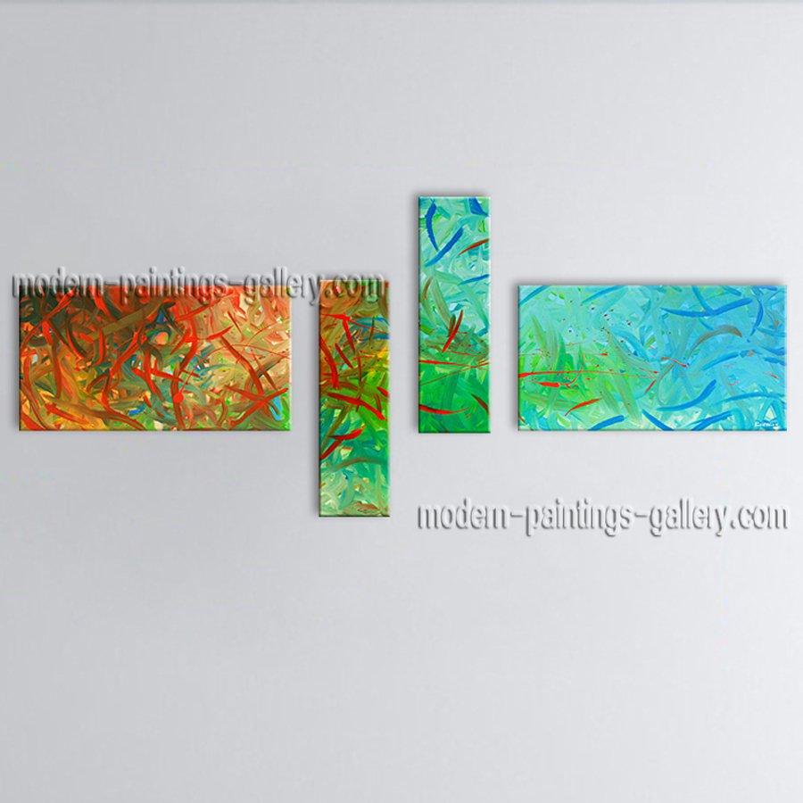 Handmade Artcrafts Large Modern Abstract Painting Wall Art Inner Framed