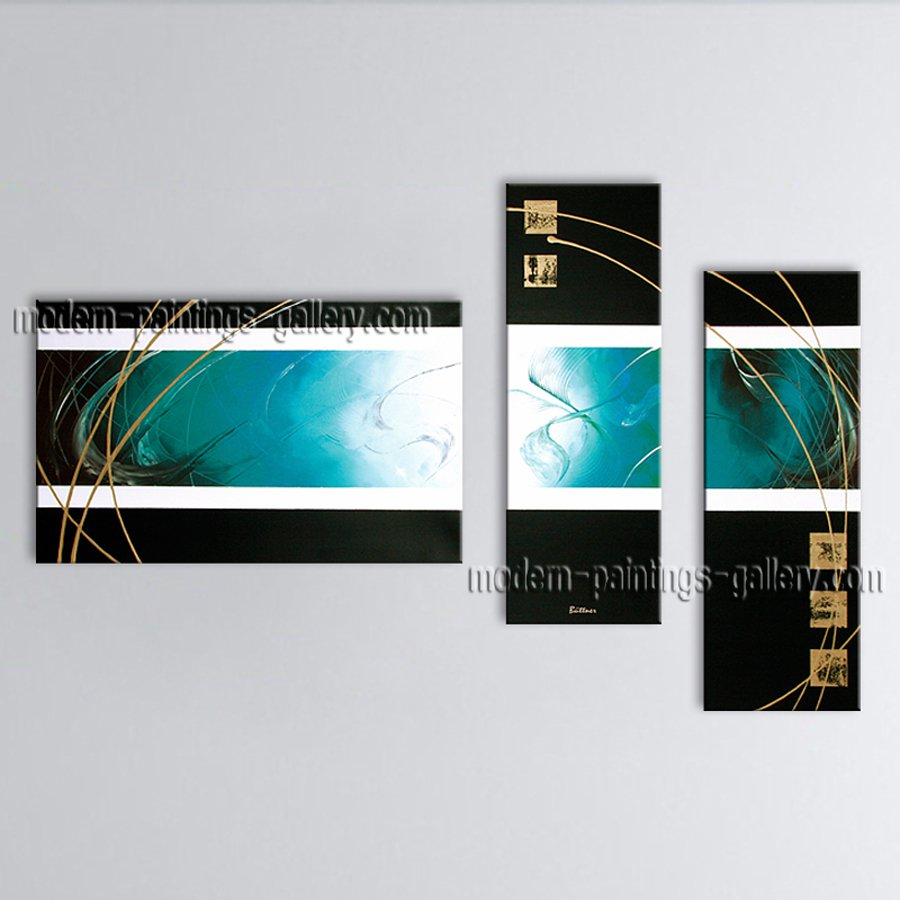 Hand-painted Triptych Modern Abstract Painting Wall Art Ready To Hang