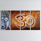 Tetraptych Feng Shui Zen Art Contemporary Painting Buddha Oil On Canvas