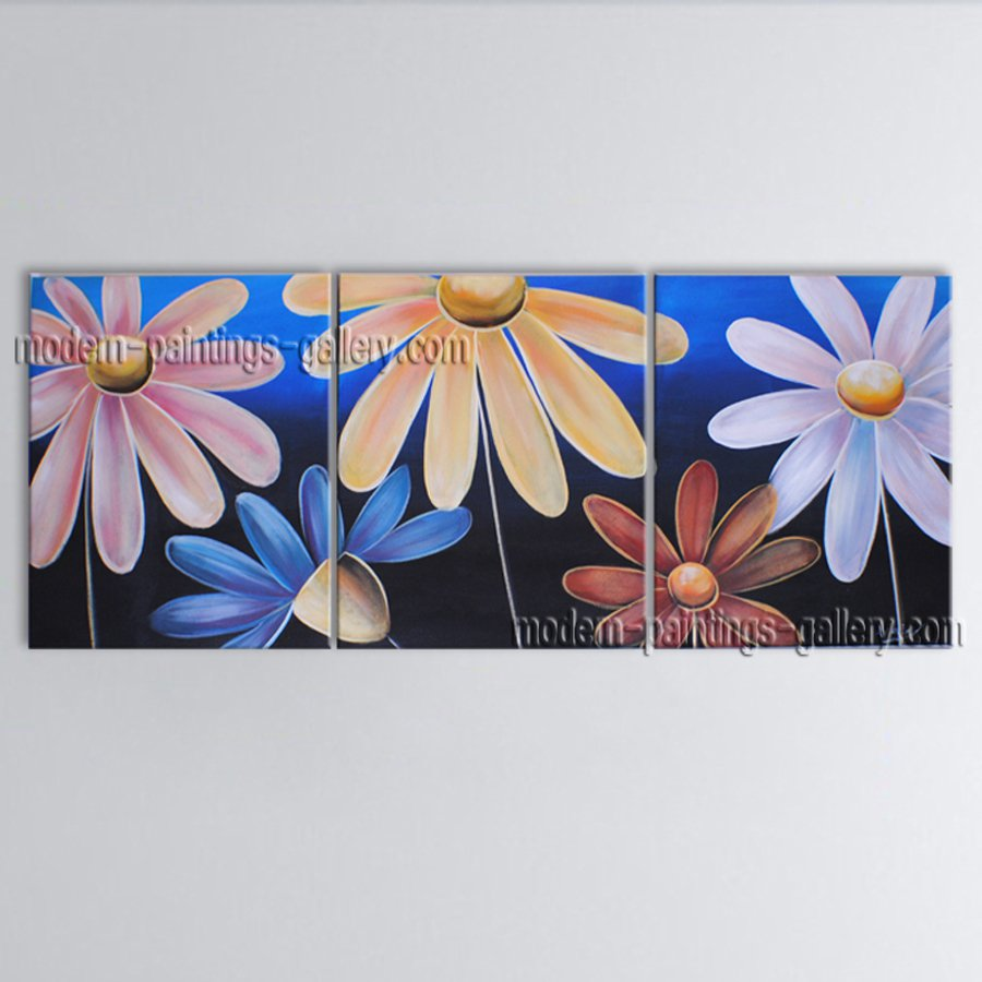 Beautiful Contemporary Wall Art Floral Painting Egg Flower Inner Stretched