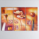 Elegant Contemporary Wall Art Floral Painting Lily Decoration Ideas