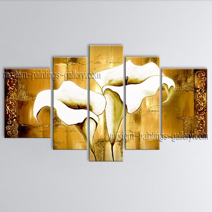 Large Contemporary Wall Art Floral Painting Lily Contemporary Decor