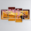 Tetraptych Contemporary Wall Art Floral Cherry Blossom Gallery Wrapped