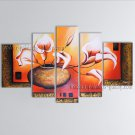 5 Pieces Contemporary Wall Art Floral Painting Lily Flowers Artwork