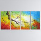 4 Pieces Contemporary Wall Art Floral Plum Blossom Decoration Ideas