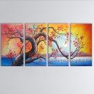 Large Contemporary Wall Art Floral Painting Cherry Blossom Inner Framed