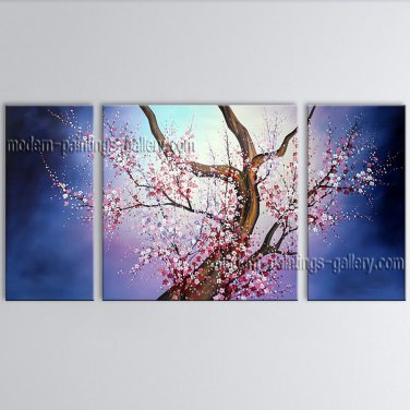Beautiful Contemporary Wall Art Floral Cherry Blossom Oil On Canvas