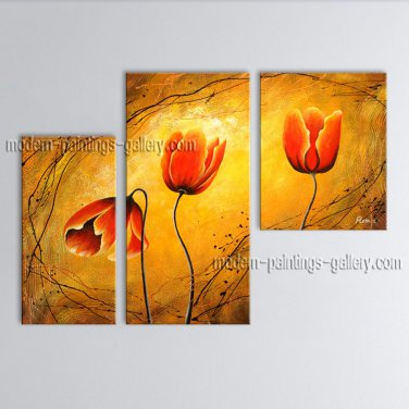 Elegant Contemporary Wall Art Floral Painting Tulip Contemporary Decor