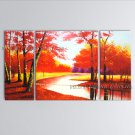 Stunning Contemporary Wall Art Landscape Painting Forest Inner Stretched